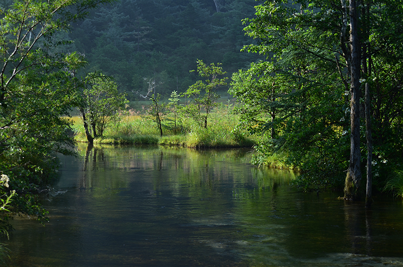 Tashiro-pond-in-kamikochi